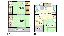 [一戸建] 兵庫県姫路市野里 の賃貸【/】の間取り