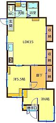 [一戸建] 石川県能美市緑が丘9丁目 の賃貸【石川県 / 能美市】の間取り