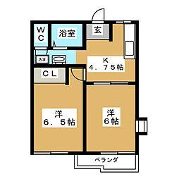 シャロームA[1階]の間取り