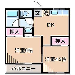 神奈川県横浜市港北区大曽根1丁目の賃貸マンションの間取り