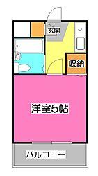 埼玉県新座市野火止6の賃貸マンションの間取り