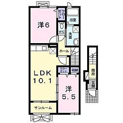 ブレイブハウス[2階]の間取り