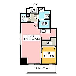 ウインステージ箱崎2[12階]の間取り