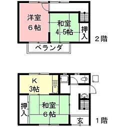 [一戸建] 岐阜県羽島市正木町曲利 の賃貸【/】の間取り