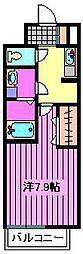 埼玉県さいたま市南区曲本の賃貸アパートの間取り