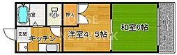 Requie紫竹[302号室号室]の間取り
