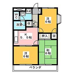 Famille Ce−la vie[3階]の間取り