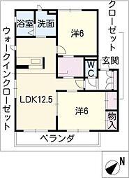 MASTTOWN藤塚[1階]の間取り