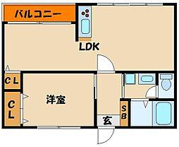 馬田マンション[5階]の間取り
