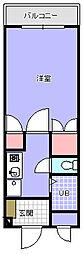 並木ビル[201号室]の間取り