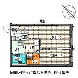 仮)二十四軒1−6MS[2階]の間取り