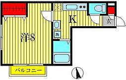 セレ北小金[2階]の間取り