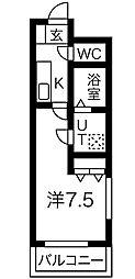 プリミエール八幡[1階]の間取り