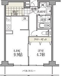 白金台マンション[0403号室]の間取り