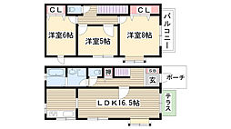[テラスハウス] 愛知県名古屋市名東区社が丘4丁目 の賃貸【/】の間取り