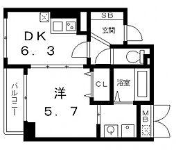 ティベルデ[2階]の間取り