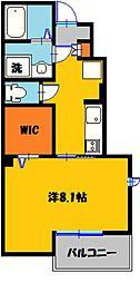 メゾン・ド・yu I 1階1Kの間取り