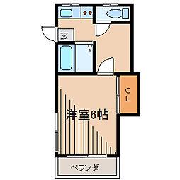 東京都町田市中町2の賃貸アパートの間取り