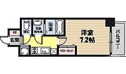 CHEZ・MOI・Yokozutumi 6階1Kの間取り