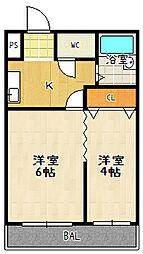 グレースコーポ大塚[3階]の間取り