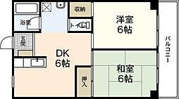 広島センチュリーマンション(512)[2階]の間取り