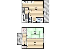 田中コーポ[1階]の間取り