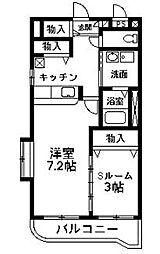 NNMマンションB[302号室]の間取り