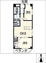 コーポトシ[4階]の間取り