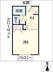 メイゾン 美田[1階]の間取り