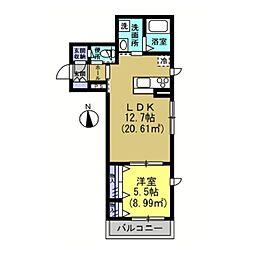 仮)川崎区藤崎1−1シャーメゾン[202号室]の間取り