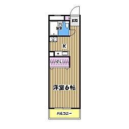 昭島コートエレガンスB棟[3階]の間取り