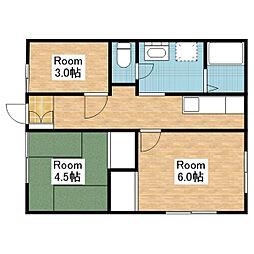 池野アパート[202号室]の間取り