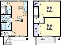 green Roof[2階]の間取り
