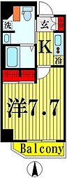 都営浅草線 本所吾妻橋駅 徒歩6分の賃貸マンション 5階1Kの間取り
