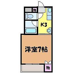 愛媛県松山市鷹子町の賃貸マンションの間取り