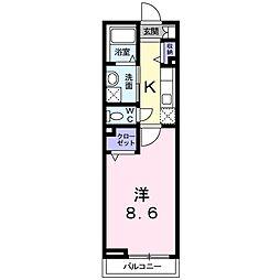 滋賀県大津市見世2丁目の賃貸アパートの間取り