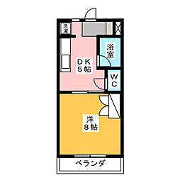 グリーンハイツII[4階]の間取り