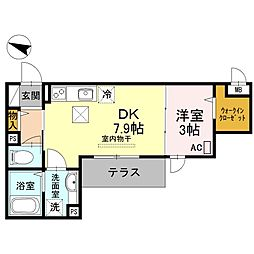 兵庫県神戸市東灘区青木6丁目の賃貸アパートの間取り