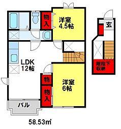 レジデンスITO[A202号室]の間取り