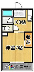 福岡県福岡市東区松島2丁目の賃貸マンションの間取り