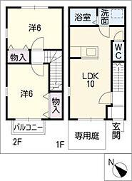 [タウンハウス] 愛知県碧南市権現町2丁目 の賃貸【/】の間取り