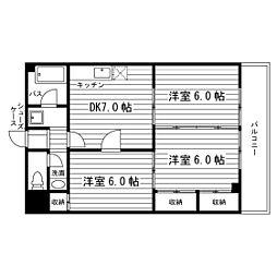 メゾン・ドゥ・片平[0506号室]の間取り