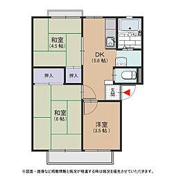 大阪府堺市中区深阪3丁の賃貸アパートの間取り