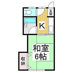 白樺荘 3号棟[2階]の間取り