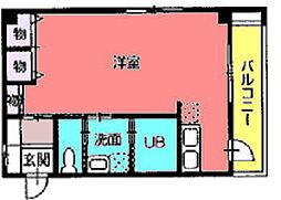 サン番町ビル[3階北号室]の間取り