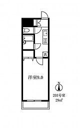 086007 シュペリュールコート[2階]の間取り
