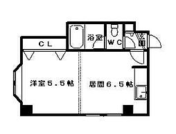 シティハウス南7条[2階]の間取り