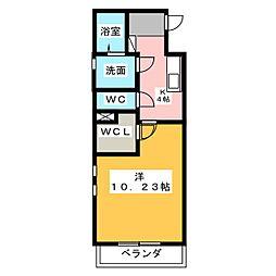 Seize Bonheur[2階]の間取り