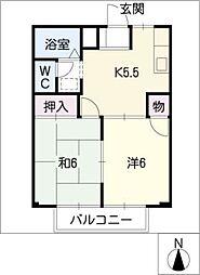 メゾングレイス[1階]の間取り