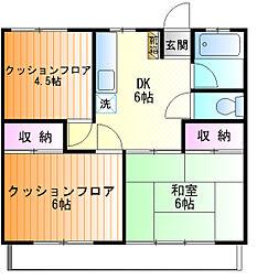 関井ハイツ[302号室]の間取り